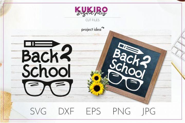 Back 2 school SVG - School Kids Cut file - Classroom decor