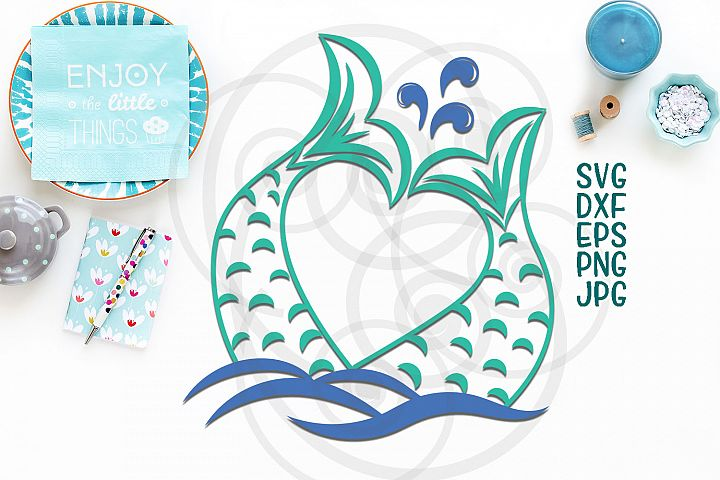 mermaid tail svg, mermaid tail heart monogram svg file, couple, mr and mrs svg, fish tail svg, logo, cruise, ocean waves, beach party files