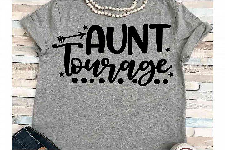 Auntie SVG DXF JPEG Silhouette Cameo Cricut aunt tourage