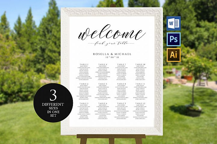 wedding seating chart sign, TOS_45