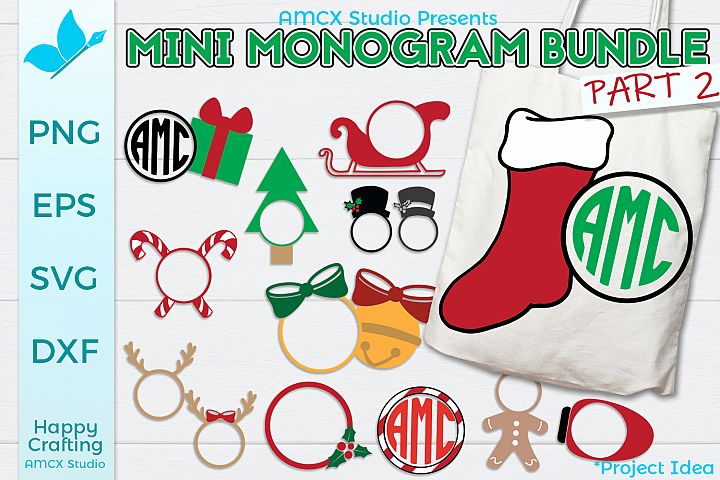 Mini Holiday Monogram Bundle Part 2 - 14 Designs
