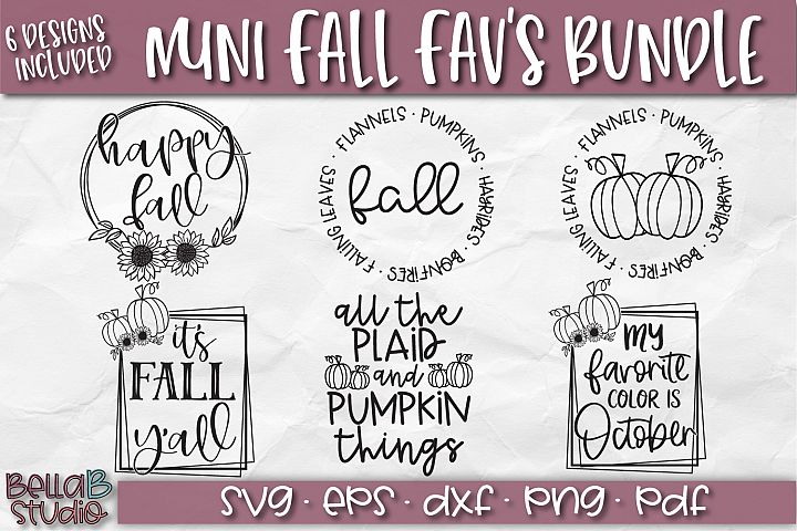 Fall SVG Bundle-Autumn SVG Bundle-Flannels Pumpkins Hayrides
