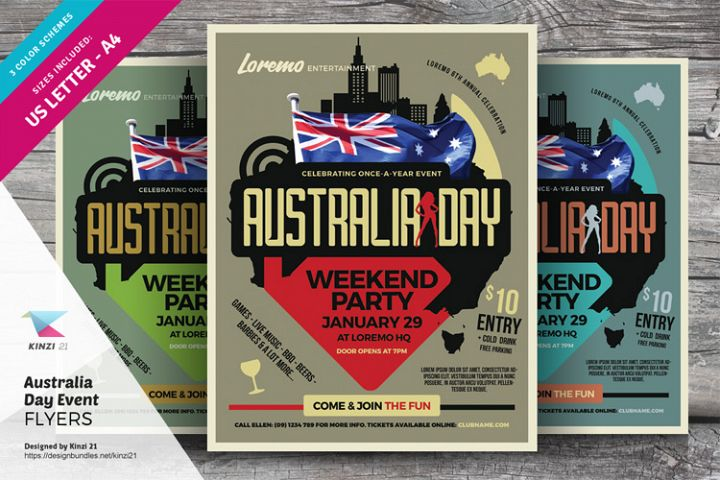Australia Day Flyer Templates