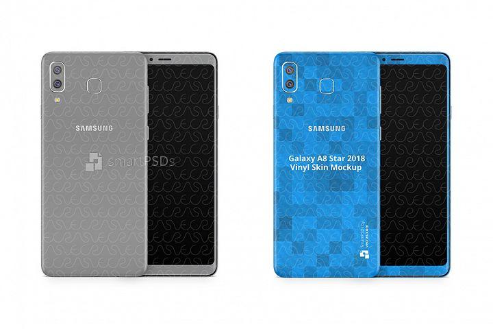 Samsung Galaxy A8 Star Vinyl Skin Design Mockup 2018