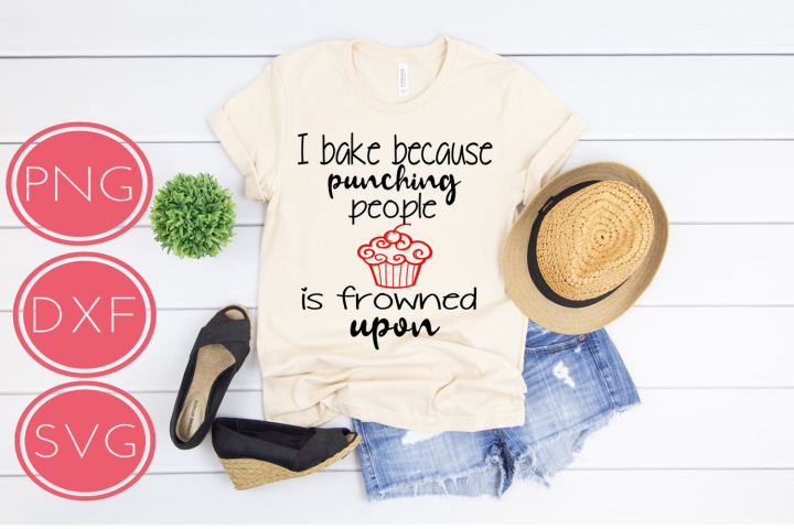 I Bake Because Punching People is Frowned Upon SVG