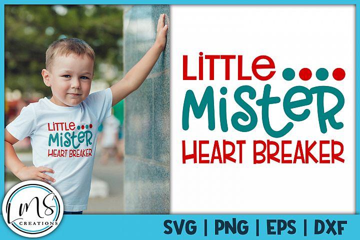 Little Mister Heart Breaker SVG, PNG, EPS, DXF