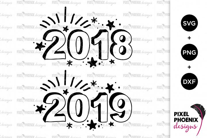 2018 and 2019 SVG files