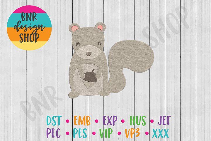 Woodland Squirrel Machine Embroidery Design