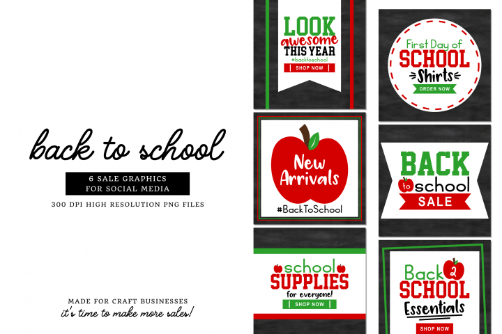 Back To School Social Media Pack - For Craft Businesses