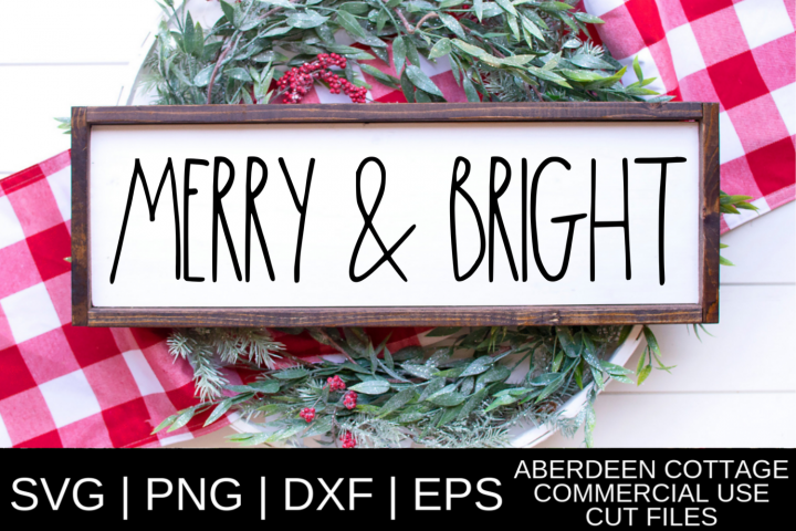 Dunnish Merry and Bright SVG Design