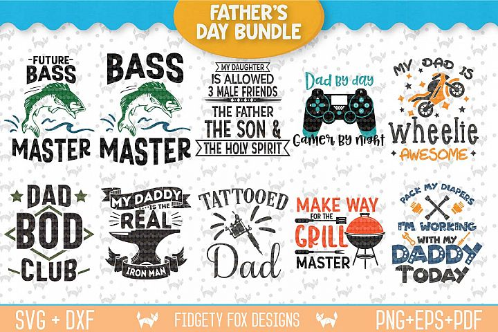 Fathers Day Svg Bundle, Holiday Design, Svg Dxf Eps Pdf Png Cutting files for Silhouette cameo and cricut