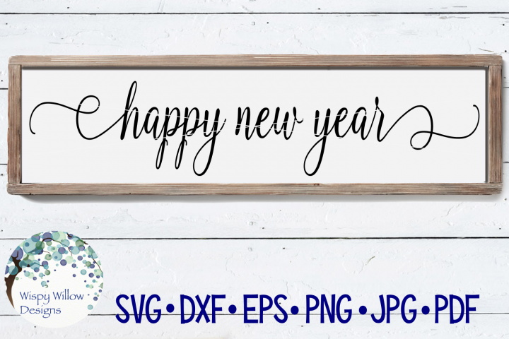 Happy New Year SVG | Wood Sign SVG Cut File