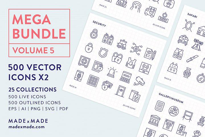 Line Icons - Mega Bundle Vol 5