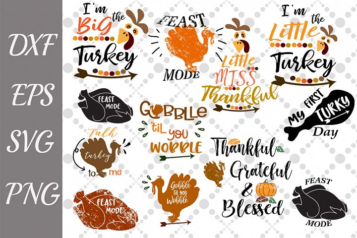 Thanksgiving Bundle Svg, BUNDLE TURKEY SVG, Bundle Svg