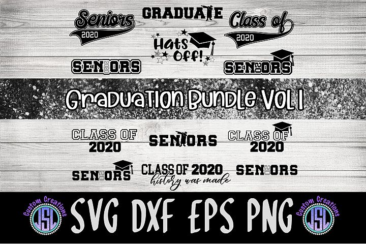 Seniors 2020 Graduation| Bundle Set of 12 | SVG DXF EPS PNG