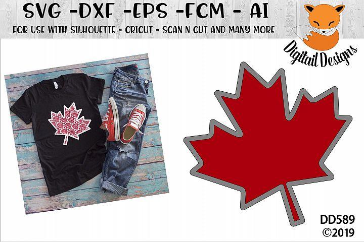 Faux Maple Leaf Applique Canada SVG