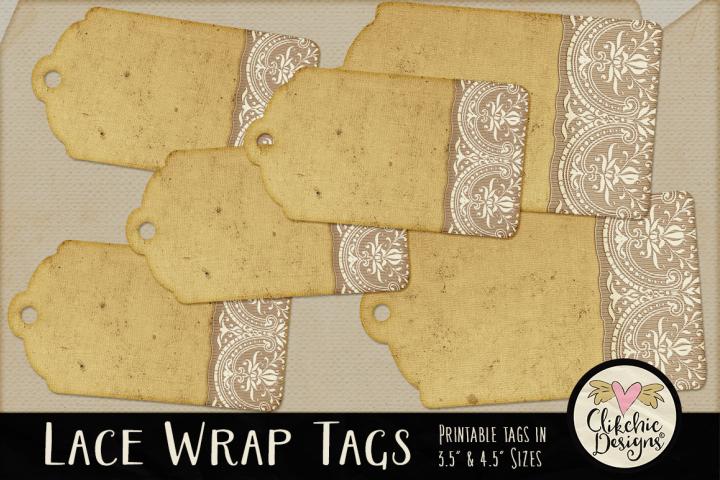 Printable Tags - Lace Wrap Vintage Tags