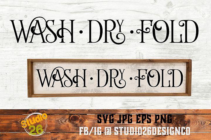 Wash Dry Fold - SVG PNG EPS