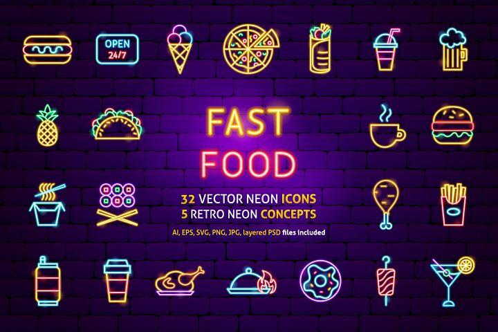 Fast Food Neon