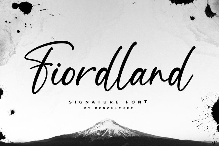 Fiordland Signature Font