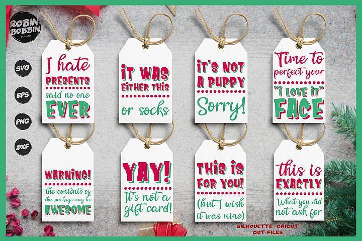 Funny Christmas Tags SVG Bundle