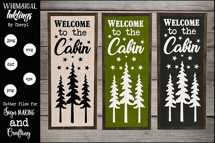 Welcome To The Cabin Version 2 SVG