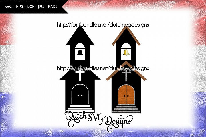 2 Church cutting files, church svg, church cut file