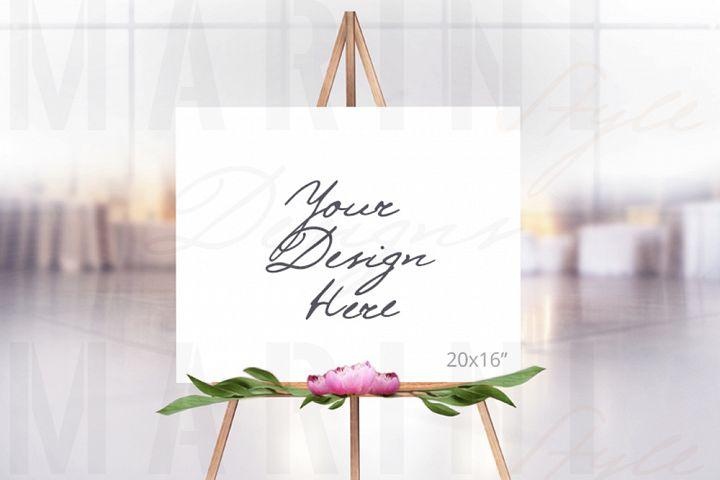 Easel Mockup, Wedding Sign Mockup, Welcome sign mockup, 990