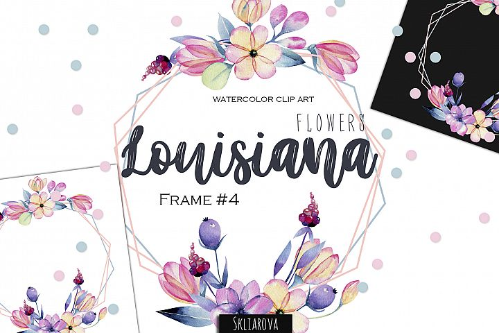 Louisiana flowers. Frame#4