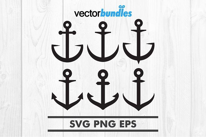 Nautical anchor clip art svg