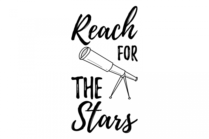 Reach for the stars - space star saying t shirt design