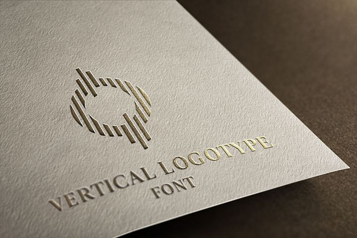 Vertical Logotype Font