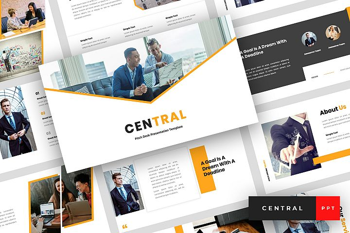 Central - Pitch Deck PowerPoint Template