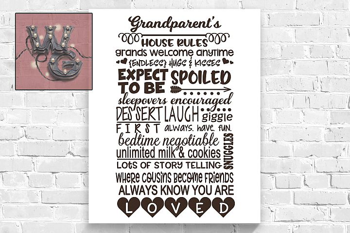 Grandparents Rules SVG DXF PNG EPS JPG Commercial