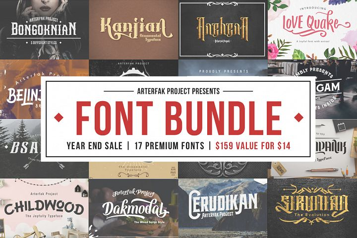 Arterfak Font Bundle II
