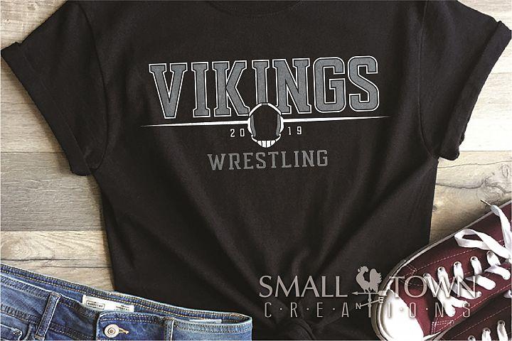 Viking, Wrestling, Mascot, Team, Sports, PRINT, CUT & DESIGN