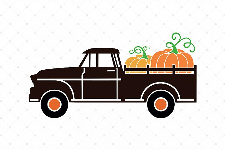Pumpkin Truck SVG Cut Files