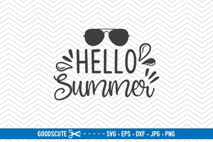 Hello Summer - SVG DXF JPG PNG EPS