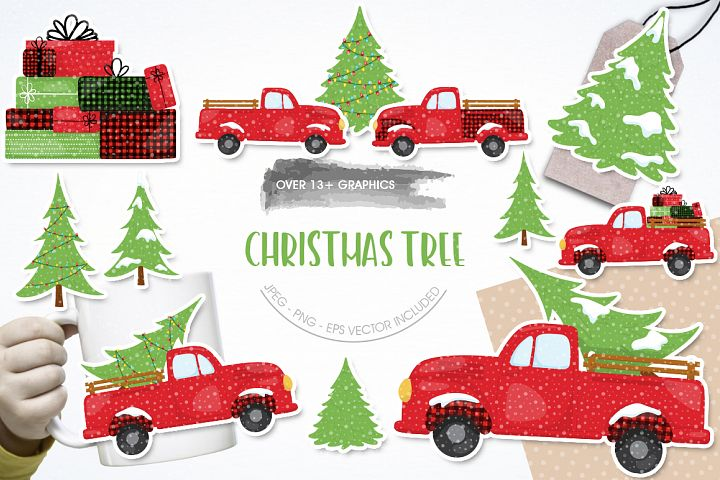 Christmas Tree graphic and illustrations