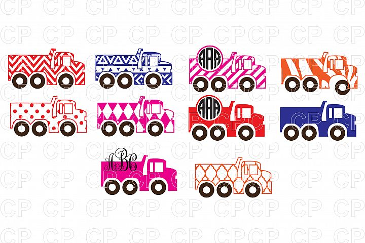 Truck Bundle SVG Cut Files, Truck Clipart