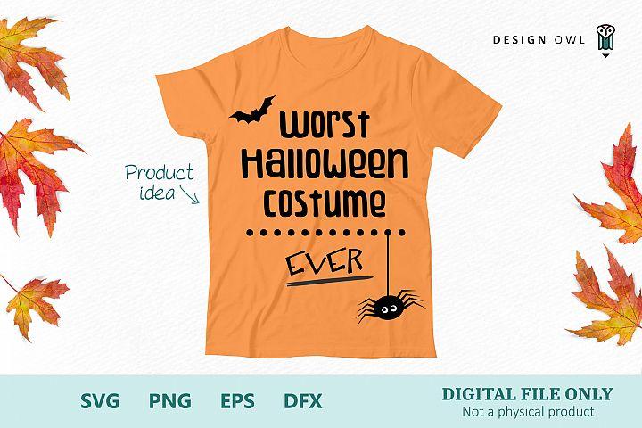 Worst Halloween costume ever - Halloween SVG file