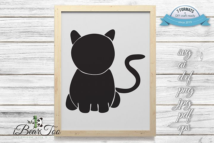 Cat SVG Clipart Vector Cut Files for Crafters