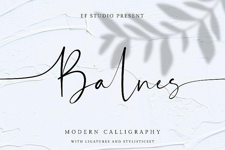 Balnes | Modern Script