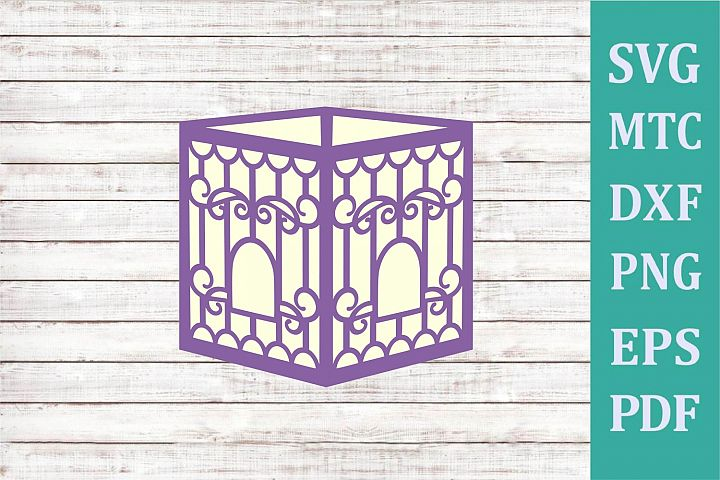 3D Paper Lantern Style #01 Bird Cage Design #09 Party Decor