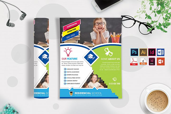 School Flyer Template Vol-09
