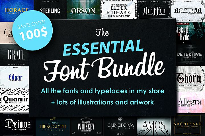 FONT BUNDLE, All my fonts for sale