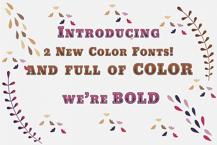 Purple meets Fuchsia and Carmel Toffee fonts