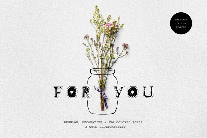 For You! Handmade Decorative Font