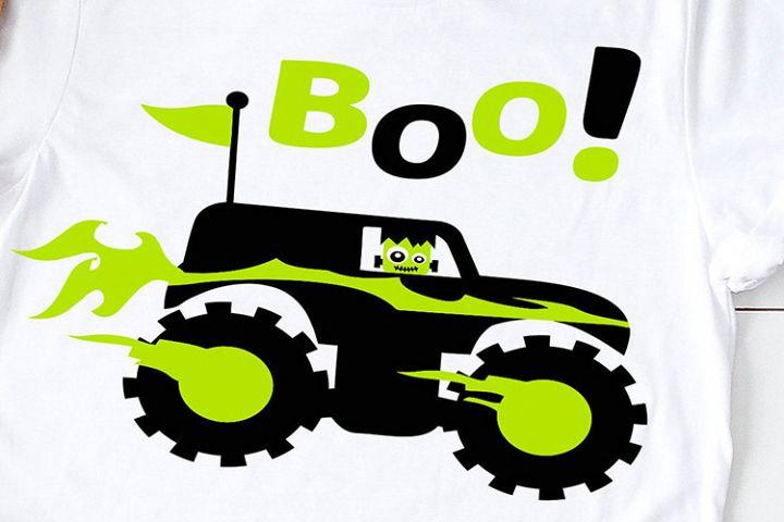 monster truck frankenstein halloween