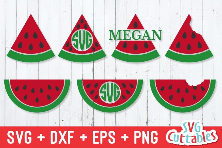 Watermelon   Monogram Frame   SVG Cut File